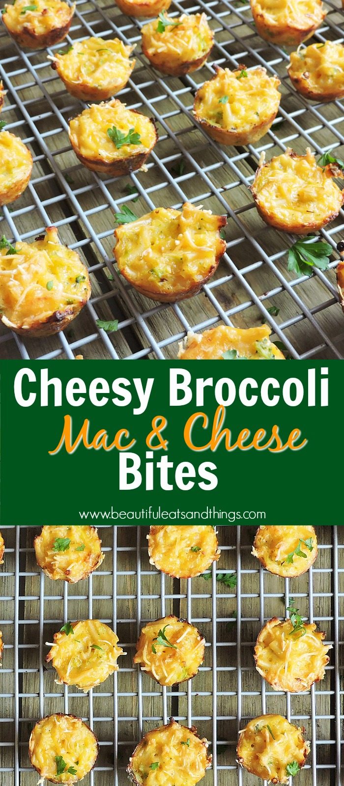 Cheesy Broccoli Mac & Cheese Bites