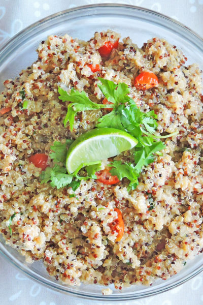 Spicy Lime Cilantro Quinoa