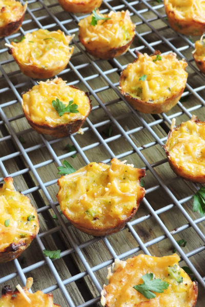 Cheesy Broccoli Mac & Cheese Bites
