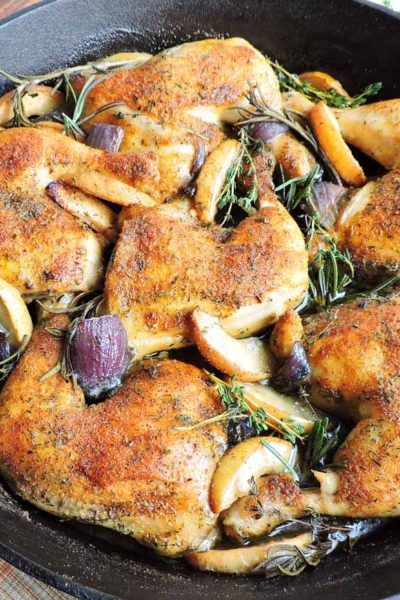Apple Roasted Herb Chicken