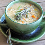 low fat creamy chicken and wild rice soup