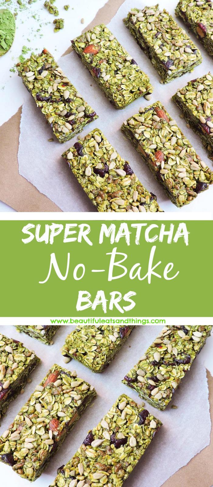 No Bake Super Matcha Bars