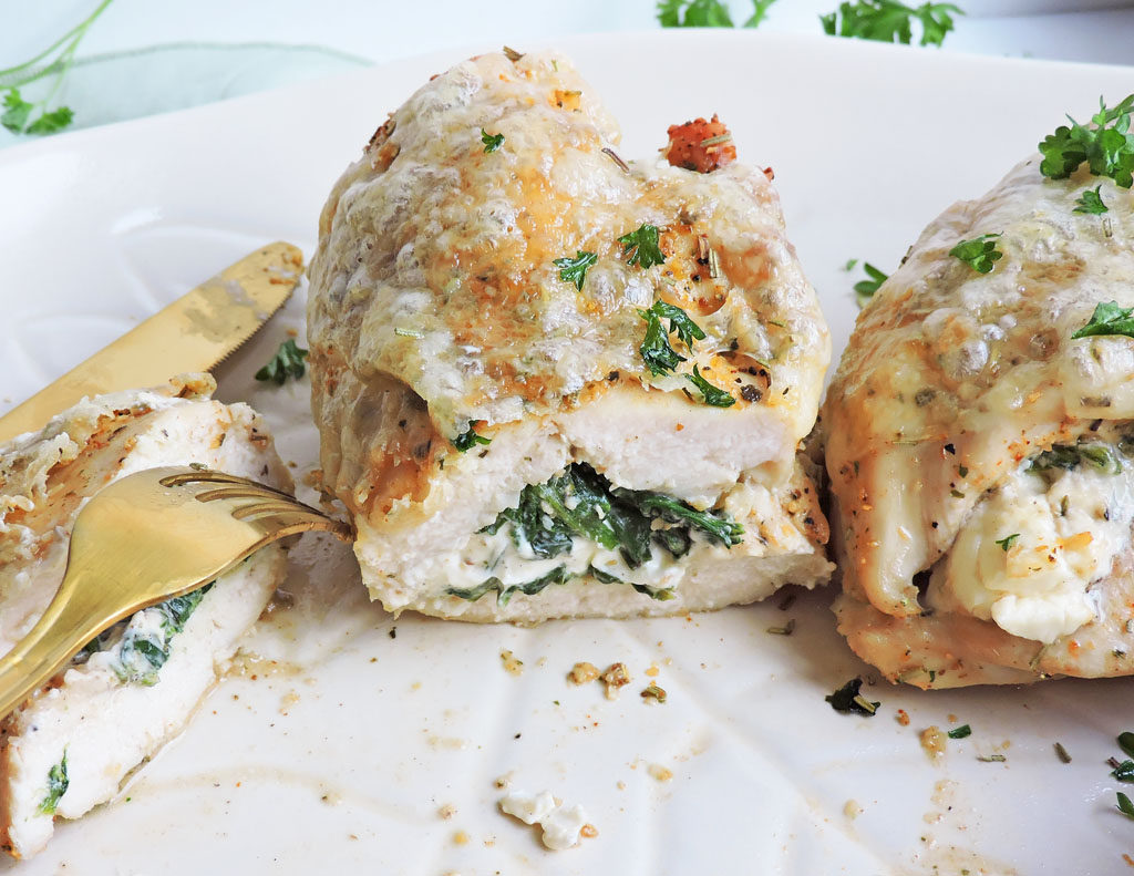 Roasted Cream Cheese-Spinach Stuffed Chicken Breast ...