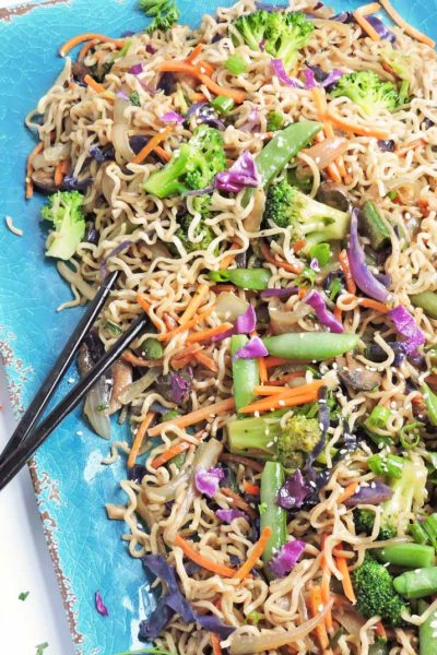 Garlic Ginger Vegetable Ramen Stir Fry