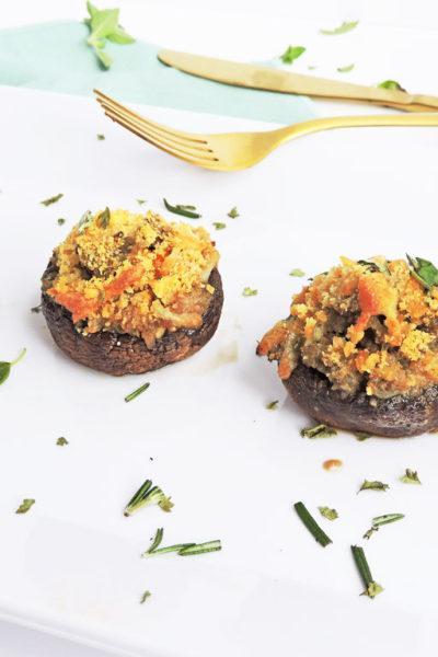 Turkey Sausage Over-Stuffed Mushrooms