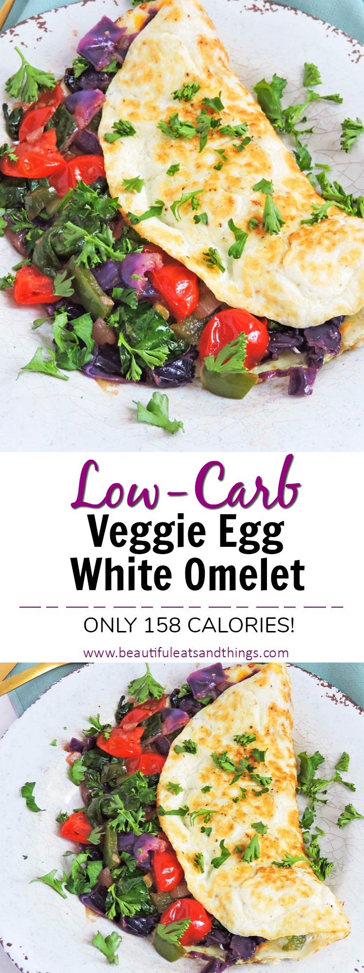 Veggie Stuffed Egg White Omelet