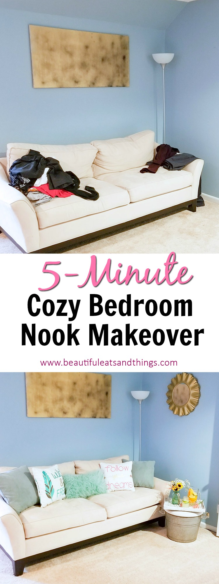 My 5 Minute Cozy Bedroom Nook Makeover-Direct Energy, One Hour Heating & Air Conditioning