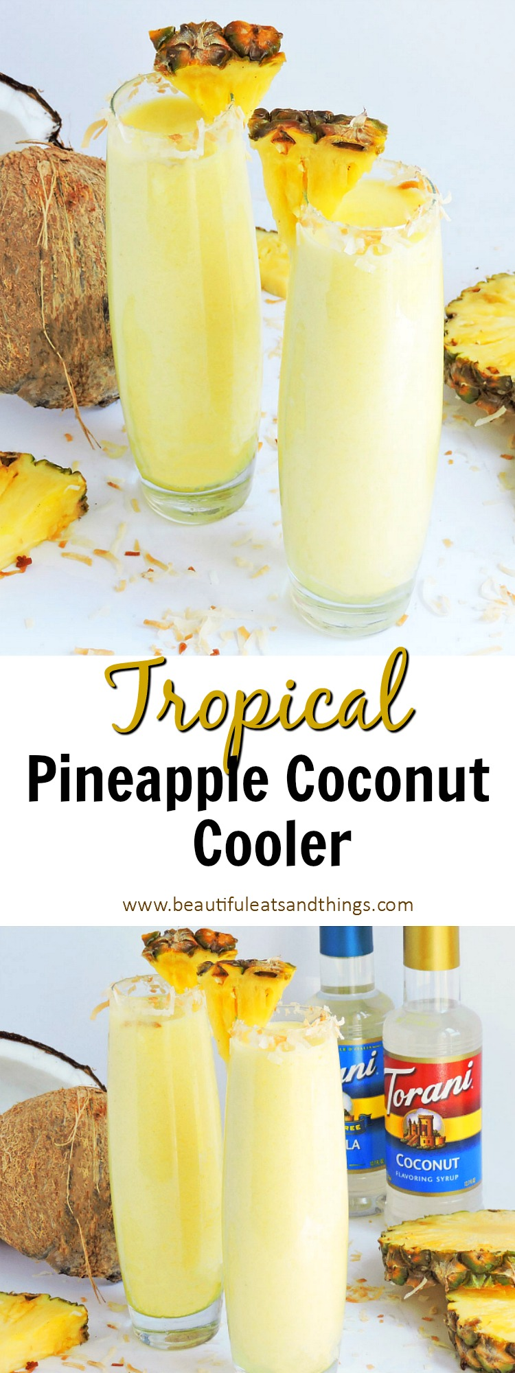 Tropical Pineapple Coconut Cooler