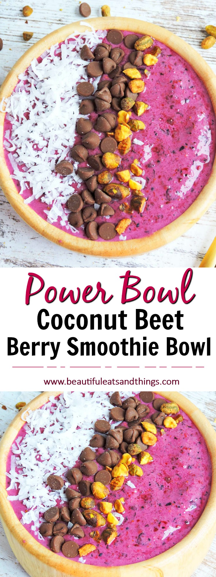 Coconut Beet Berry Smoothie Bowl