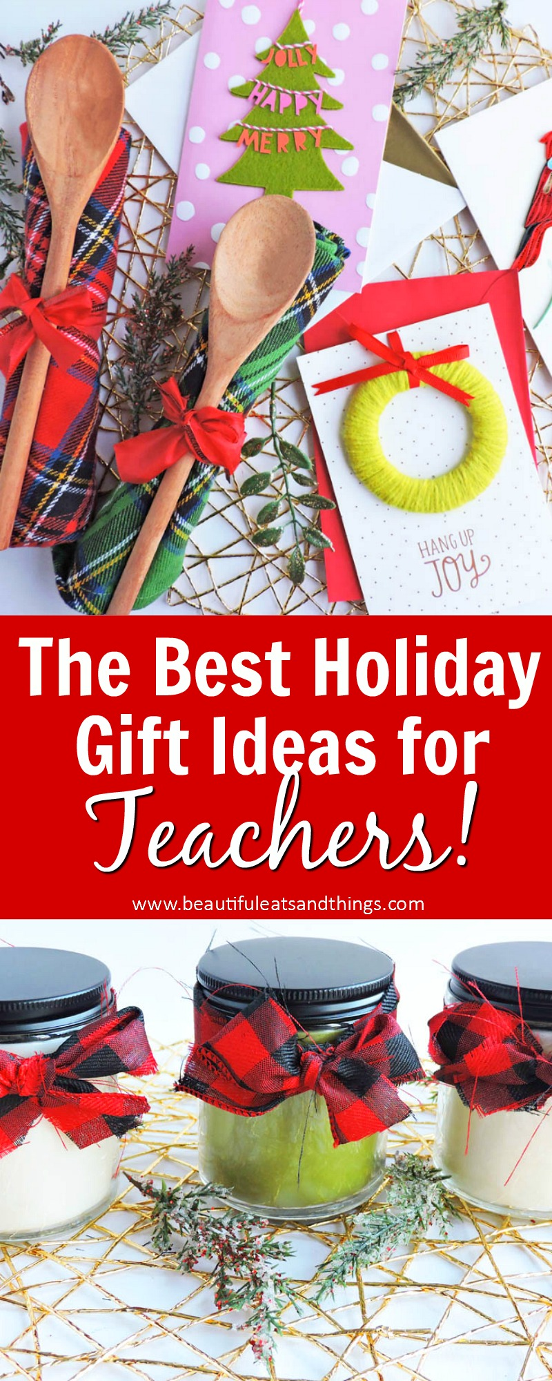 Thoughtful Holiday Gift Ideas for Teachers featuring Hallmark Paper Wonder and Signature Cards