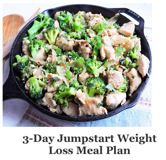 3-Day Jumpstart Weight Loss Meal Plan Banner1